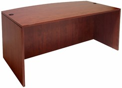 Cherry Bow Front Conference Desk Shell