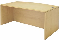 Maple Bow Front Conference Desk Shell
