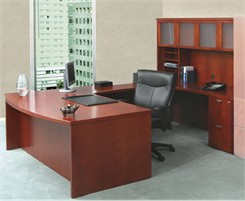 Bow Front Desk Executive U Suite - BBF/FF