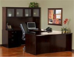 Bow Front Desk Executive U Suite - BBF/BBF