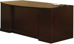 "72""W Bow Front Double Pedestal Desk - PBF/FF"