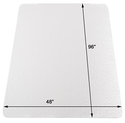 "48"" x 96"" Medium Pile Carpet Chair Mat"