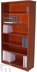 Cherry & Mahogany Veneer Heavy Duty Bookcases