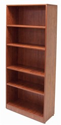 5-Shelf Cherry Laminate Bookcase
