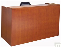 Genuine Cherry Veneer Rectangular Reception Desk