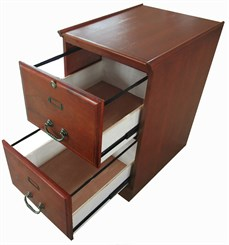 Cherry Two Drawer File Cabinet