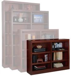 "Cherry 48""W Real Wood Bookcases"
