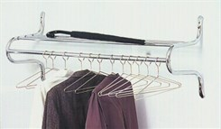 Chrome Shelf Rack With 12 Hangers