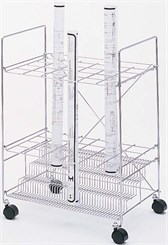 24 Compartment Chrome Wire Roll File