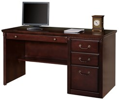 Cherry Single Pedestal Computer Desk