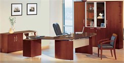 Conference Desk, Wall Unit & Cabinet