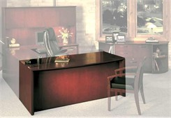 Corsica Executive Wood Veneer Desk Collection