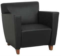 Office Star SL8471 Leather Club Chair