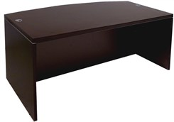 Mocha Bow Front Conference Desk Shell