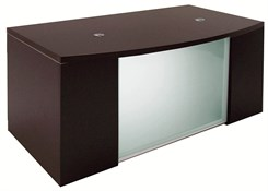 Glass Front Mocha Conference Desk