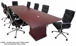 12' Dark Cherry Veneer Conference Table