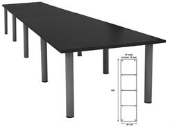 16' Rectangular Post Leg Conference Table