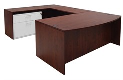 Cherry Bow Front Conference U-Desk