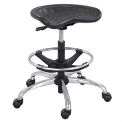 "Contoured Foot Ring Stool w/ 27"" to 34"" Seat Height"