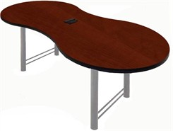 "40"" x 72"" Break-Out Conference Table w/ Pop-Up Power/Communication Modules - Other Sizes Available"