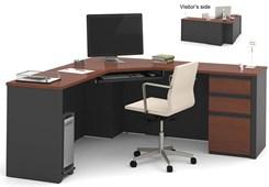 Prestige Corner L-Desk w/File