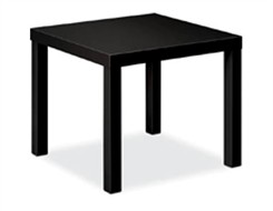 Black Laminate Corner Table