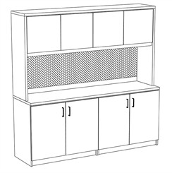 Transitions Custom Credenza and Hutch