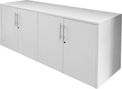 White 4-Door Locking Storage Credenza