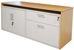 "71"" Credenza w/White Box/Lateral File & 2-Door Cabinet"