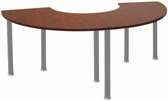Set of 90 Degree Crescent Meeting/Training Tables (180 degrees total)