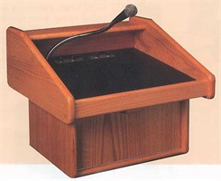 C.E.O. Solid Wood Lectern w/Sound System