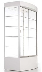 "73""H Curved Base Display Cabinet"