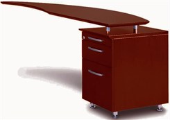 Curved Desk Right Return w/Pencil-Box-File Pedestal