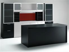 Black and White Custom Desk Package