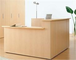 Custom Multi-Level L-Reception Desk w/Right Side Low Counter