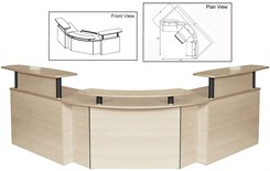 Small Office Corporate Custom Reception Desk