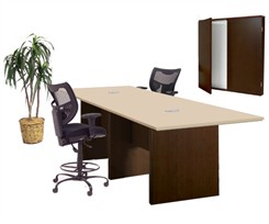 Custom Rectangular Standing Height Collaboration Tables