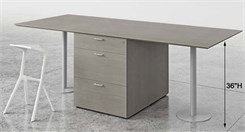 36�H, 7' Custom Team Table with Storage