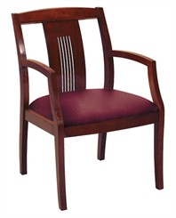 Dark Cherry Wood Guest Chair