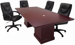 Dark Cherry Modular Pedestal Base Tables-8' Length