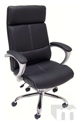 Deep Cushion Espresso Brown or Black Leather Executive Office Chair
