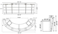 Desk Dimensions - click to enlarge.