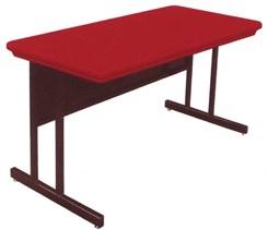 Blow-Molded Plastic Top Computer Tables