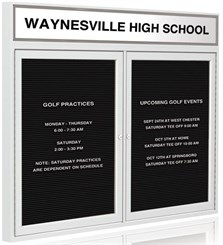 Deluxe Letter Board With Header Panel