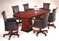 Del Mar Boat Shaped Wood Veneer Conference Tables