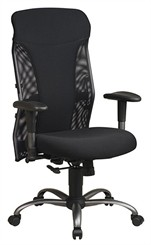 Deluxe Mesh Back  Chairs withTitanium Finish Accents