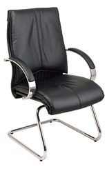 Deluxe Mid Back Leather Visitors Chair