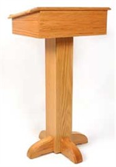 Deluxe Solid Red Oak Pedestal Speaker's Stand