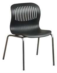 Deluxe Stack Chair w/ Titanium Finish Frame
