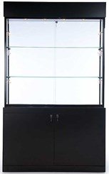 Display Case w/ Locking Storage Base & Micro Halogen Spotlights